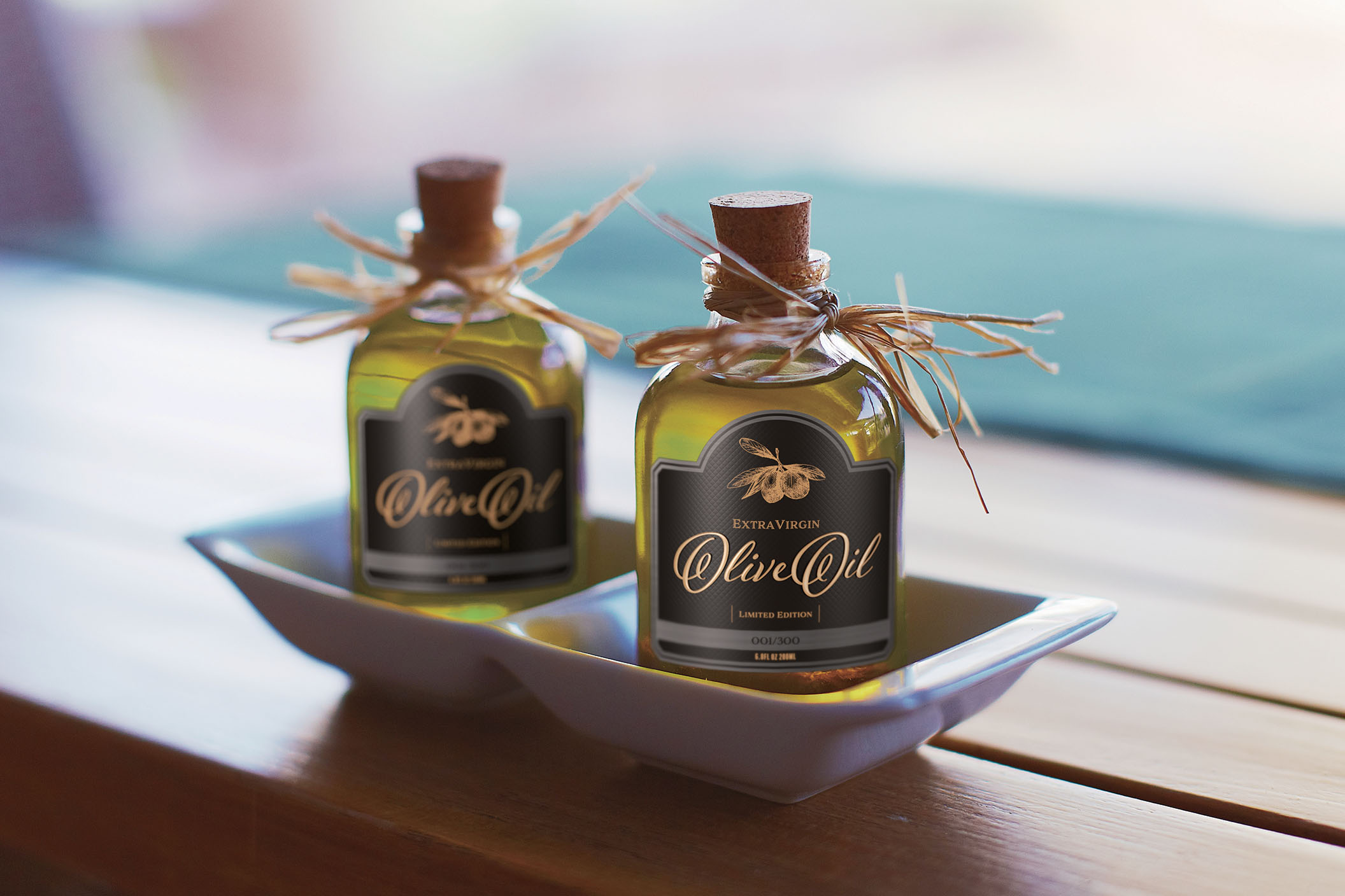 Olive Oil Samples printed directly to actual stock with varnish and embossing